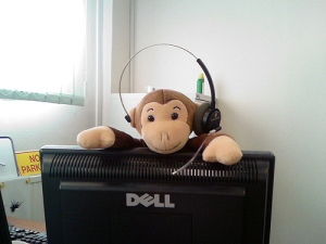 office monkey doll