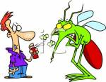 0511-0703-1312-3727_Scared_Person_Spraying_Insect_Repellent_On_a_Huge_Mosquito_clipart_image